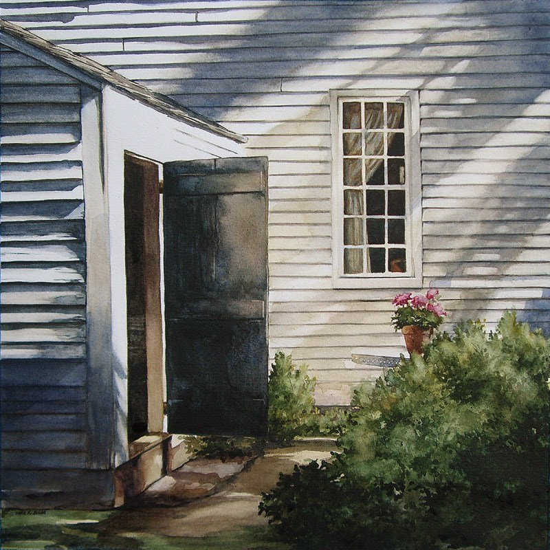 """Backyard Sunlight"" original fine art by Kara K. Bigda"