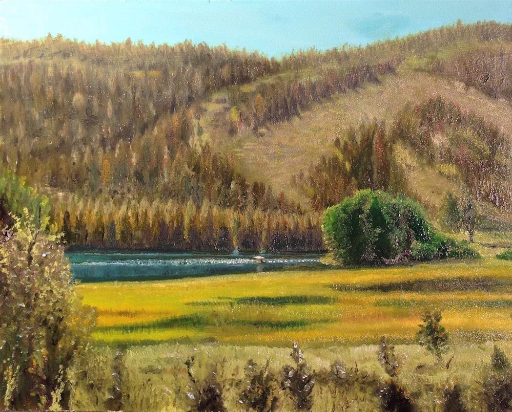 """""""Gull Lake in June"""" original fine art by Karen Stitt"""