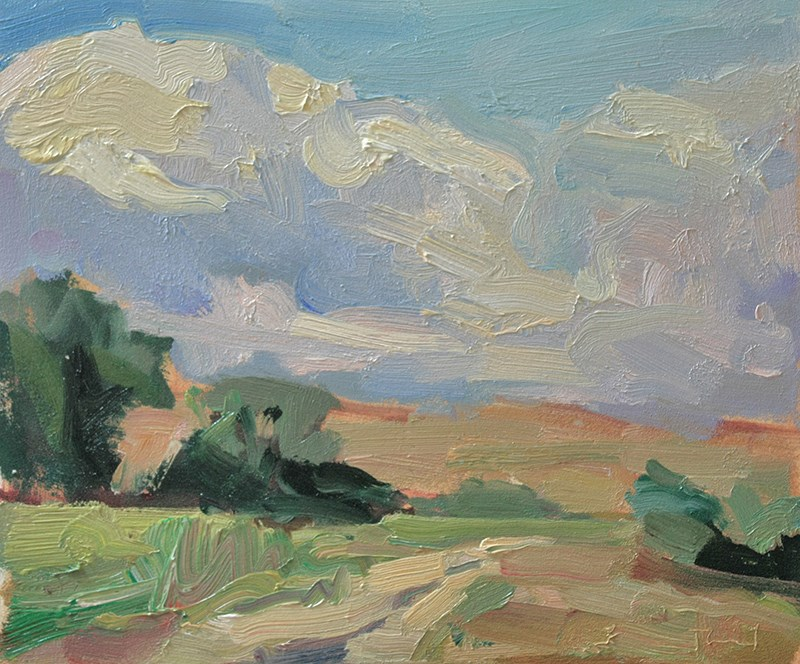 """Wind on the Palouse"" original fine art by Kathryn Townsend"