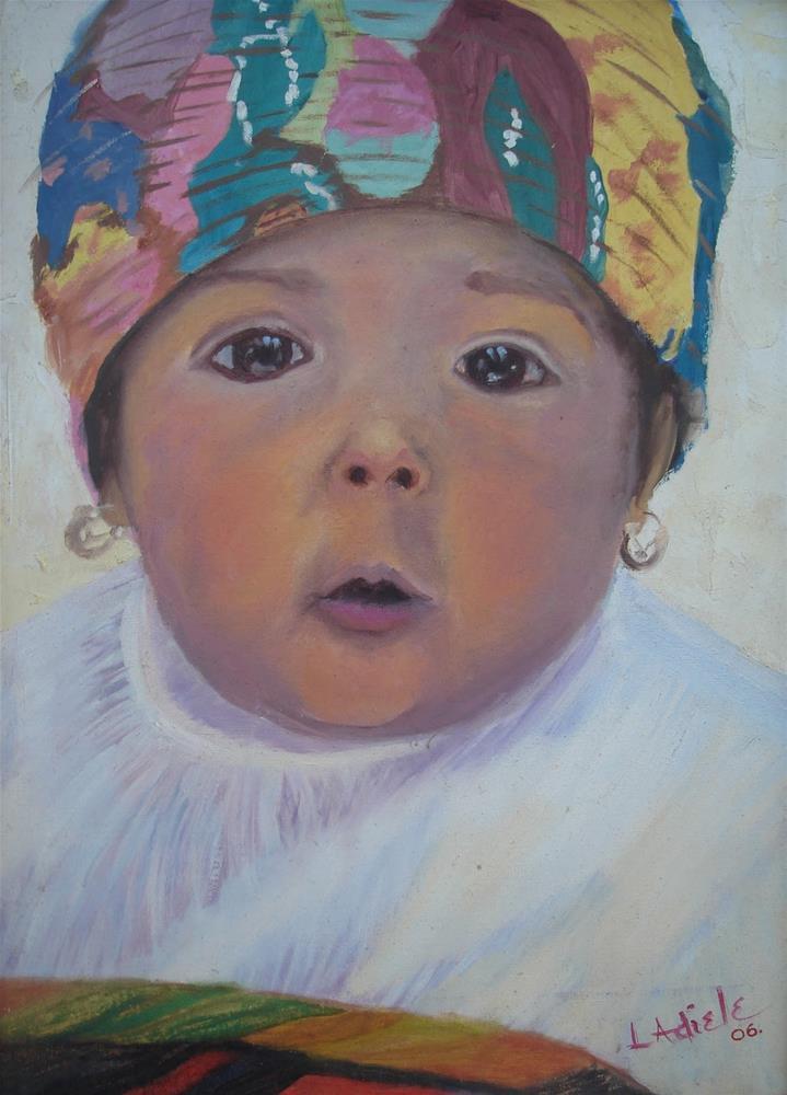 """Bambino"" original fine art by Linda Adiele"