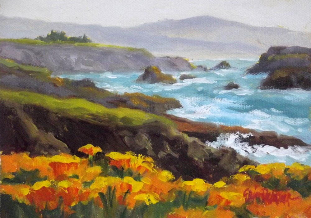"""Poppies, Poppies and More Poppies"" original fine art by Erin Dertner"