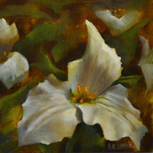 """Trillium of Ohio"" original fine art by A.K. Simon"