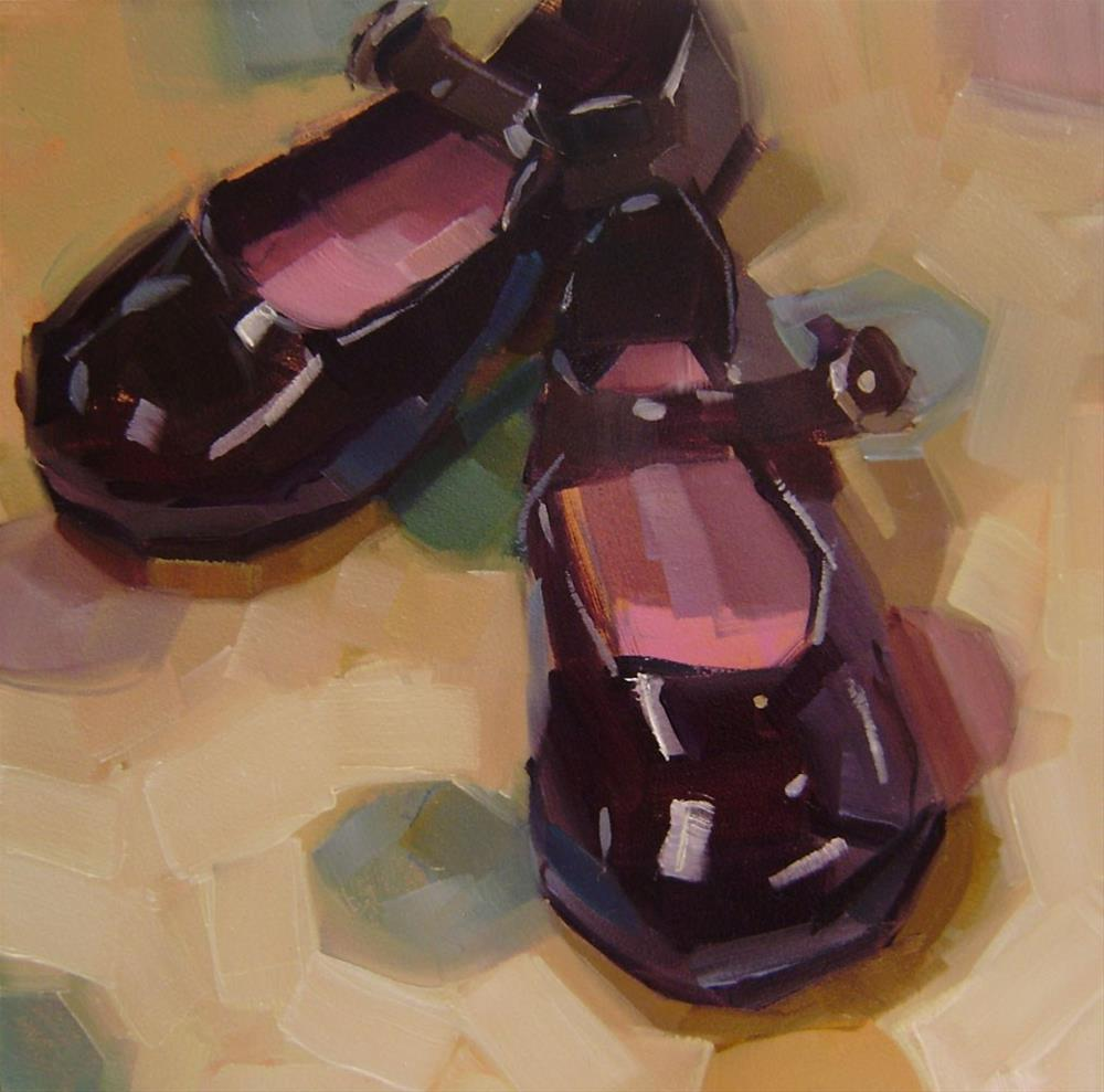 """""""Mary Janes"""" original fine art by Holly Storlie"""