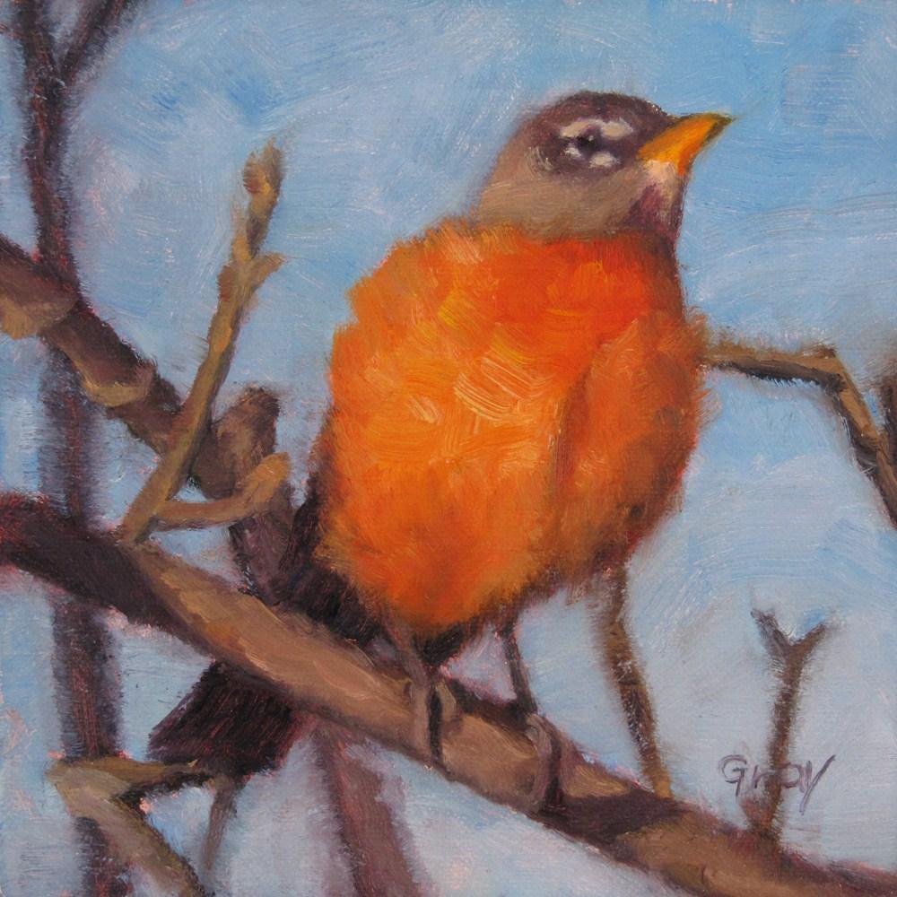 """Mr. Robin"" original fine art by Naomi Gray"