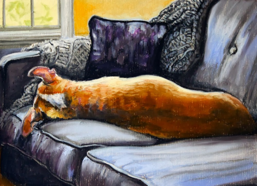"""Maxwell"" original fine art by Jill Bates"