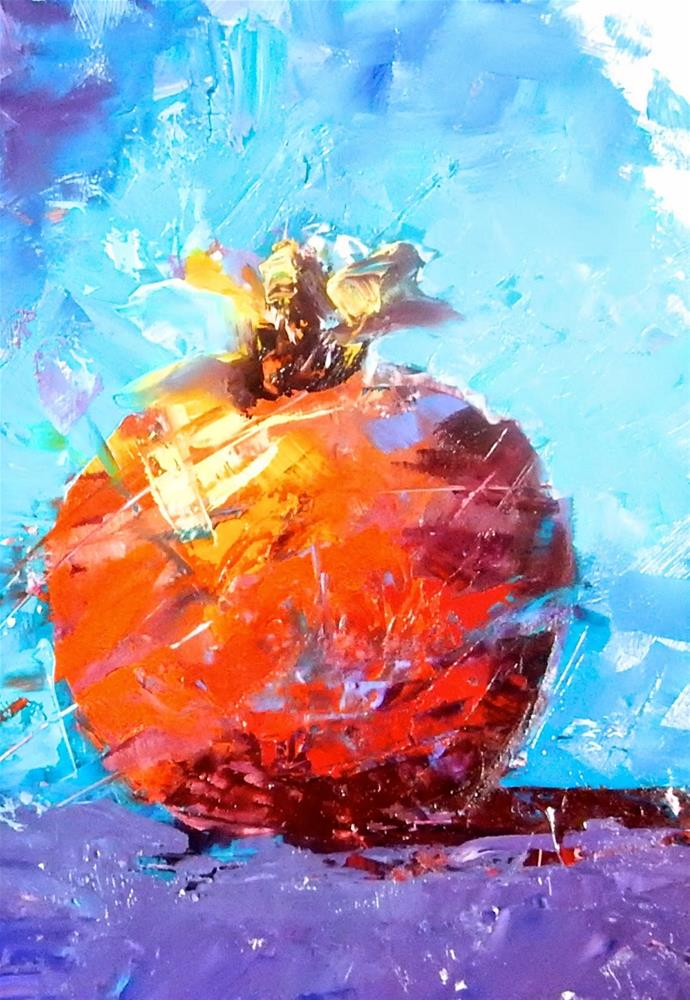 """Fractured Pomegranate"" original fine art by Phyllis Davis"