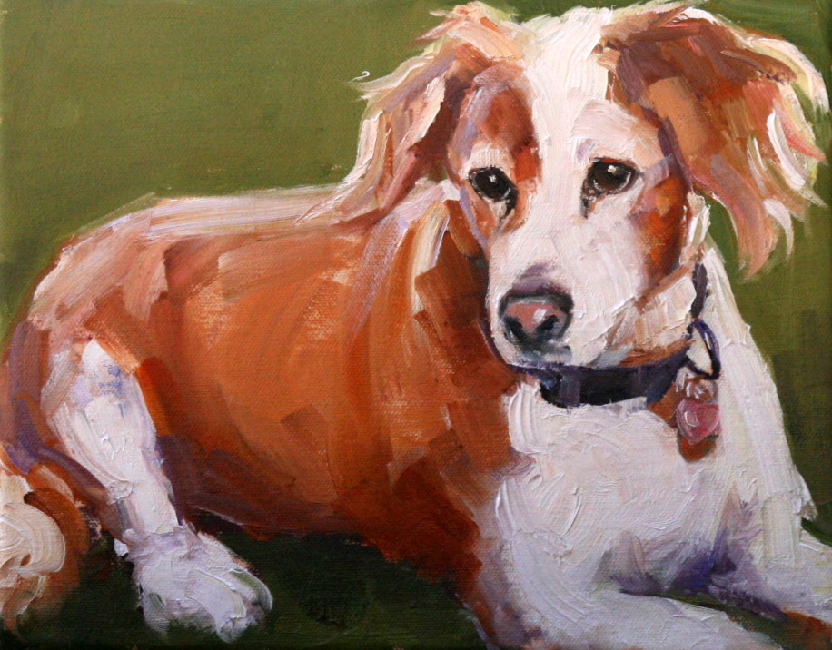 """sweet girl Chloe"" original fine art by Carol Carmichael"