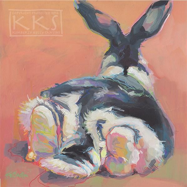 """Chillin (Oliver)"" original fine art by Kimberly Santini"