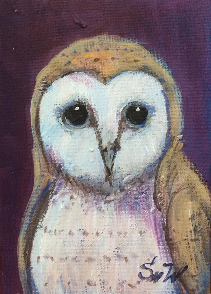 """Barn owl"" original fine art by Sonia von Walter"