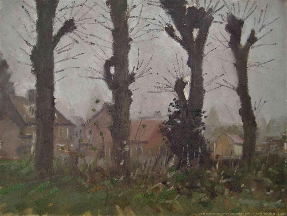 """Where monsters live. Doetinchem, The Netherlands"" original fine art by René PleinAir"