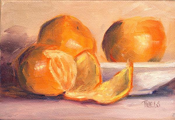 """Clementines 1"" original fine art by Lori Twiggs"