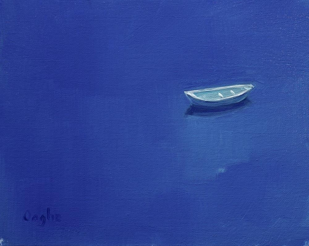"""Adrift in Blue"" original fine art by Angela Ooghe"