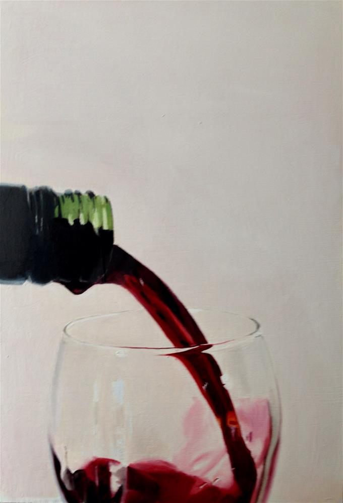 """Pouring Red"" original fine art by James Coates"