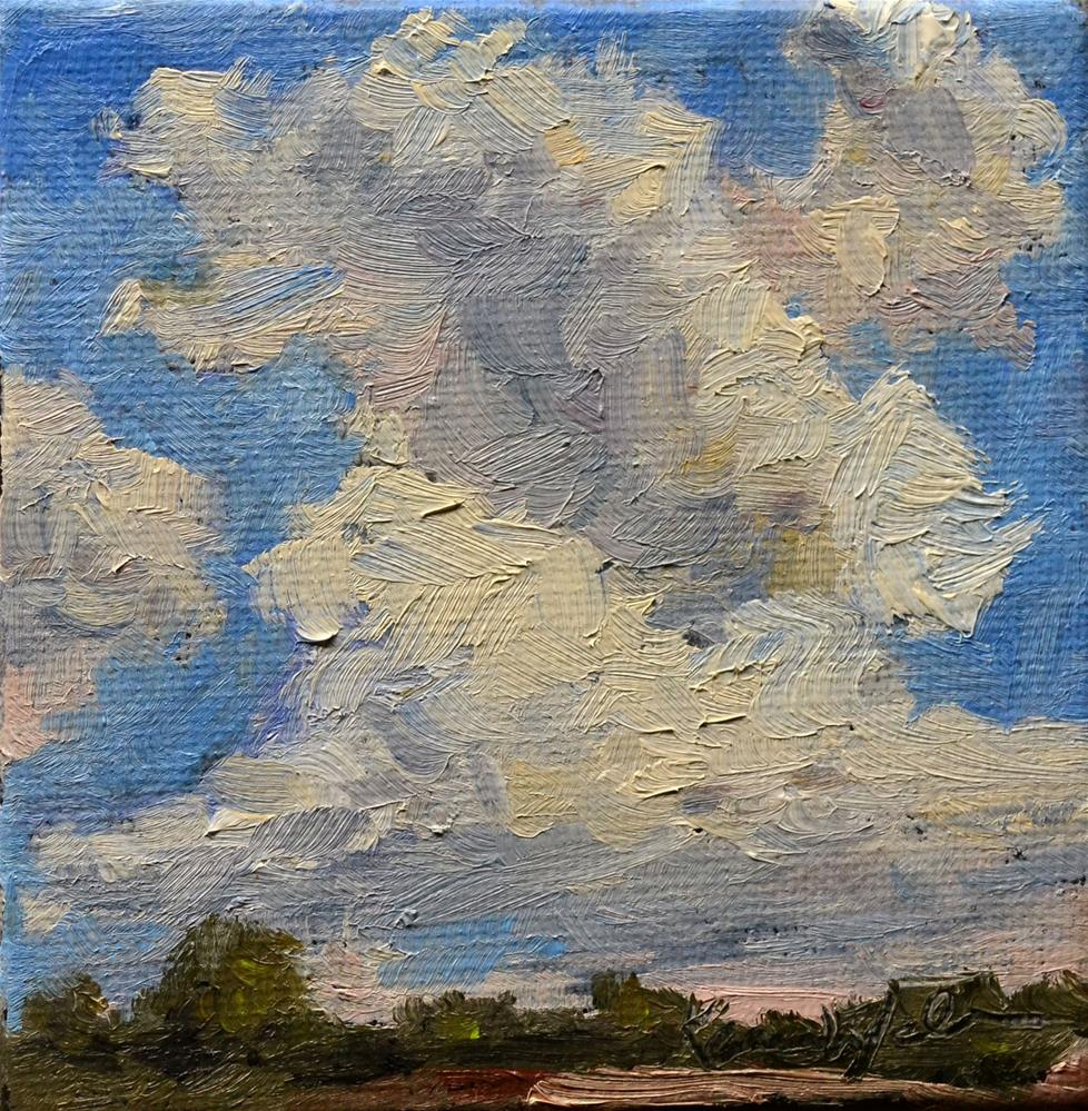 """Cloudscape sketch"" original fine art by Karen Weber"