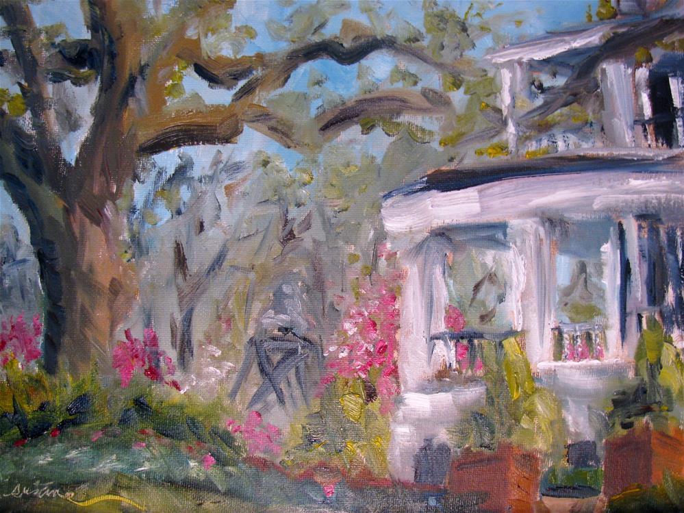 """""""Brandon Hall en plein air"""" original fine art by Susan Elizabeth Jones"""