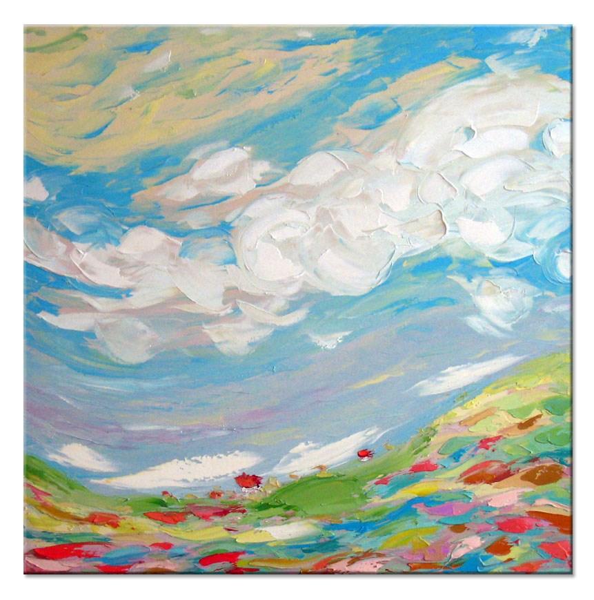 """Flying Clouds"" original fine art by Elena Lunetskaya"