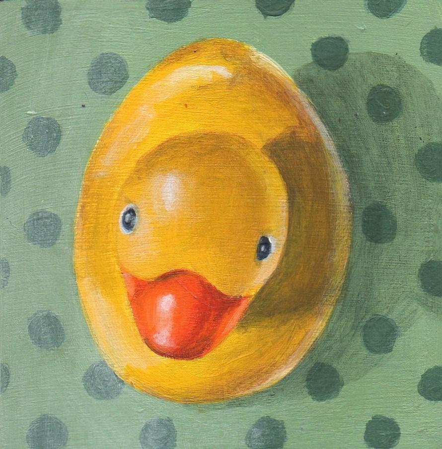 """Duck Down"" original fine art by Debbie Shirley"