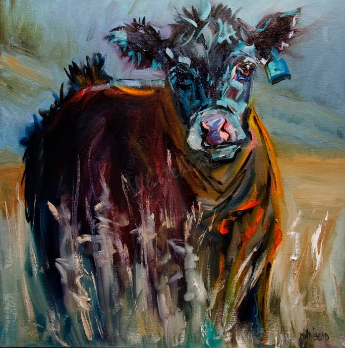"""ARTOUTWEST COUNTRY COW ANIMAL ART BY Diane Whitehead"" original fine art by Diane Whitehead"