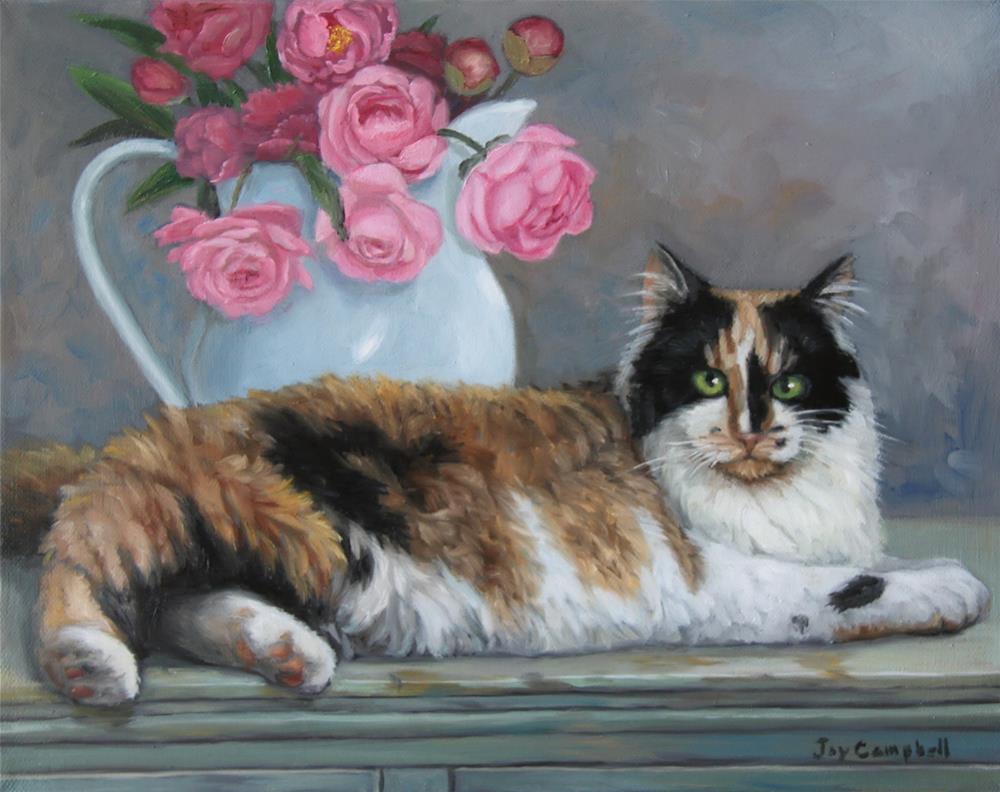 """Jackie"" original fine art by Joy Campbell"
