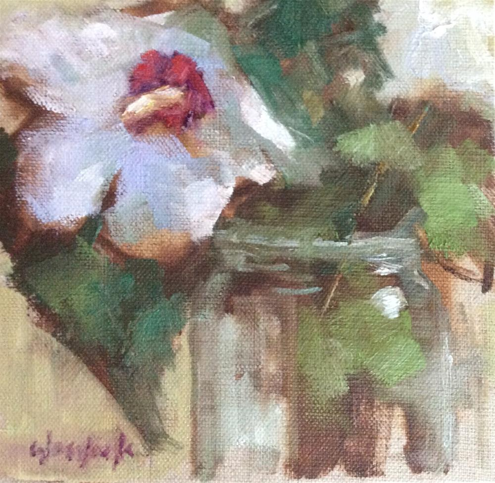 """Rose of Sharon"" original fine art by Carol Josefiak"