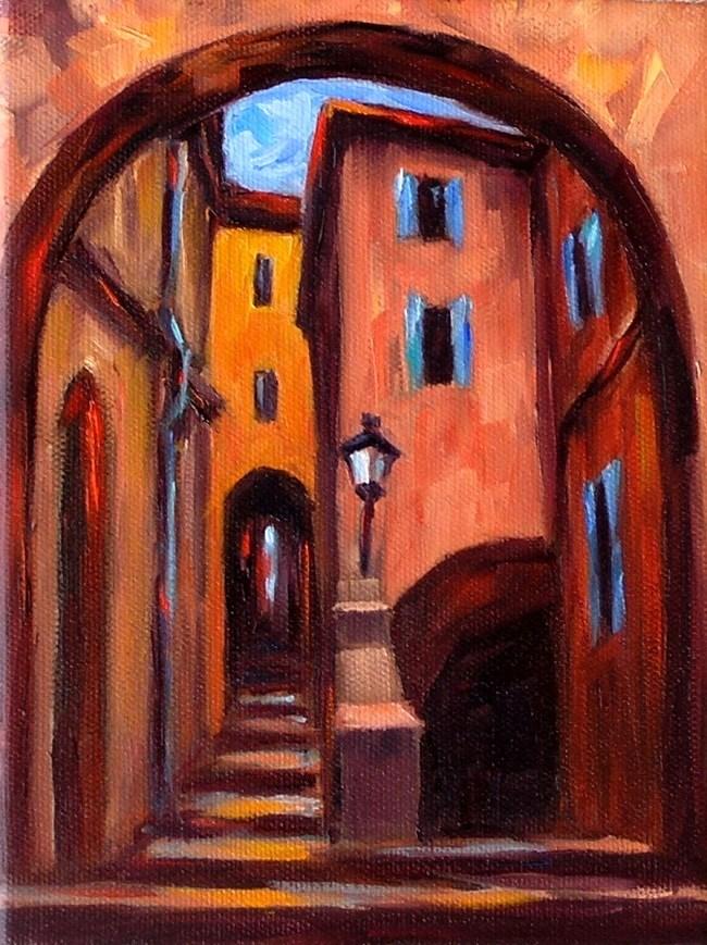 """Old City Arches"" original fine art by Irina Beskina"