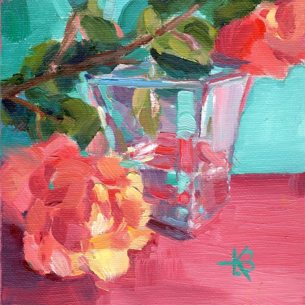 """Flower Reflections"" original fine art by Kathy Bodamer"