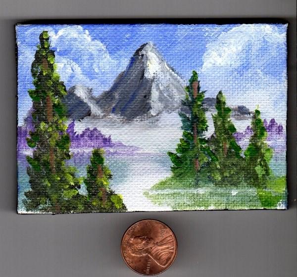 """""""Tribute to Bob Ross"""" original fine art by Patricia Ann Rizzo"""
