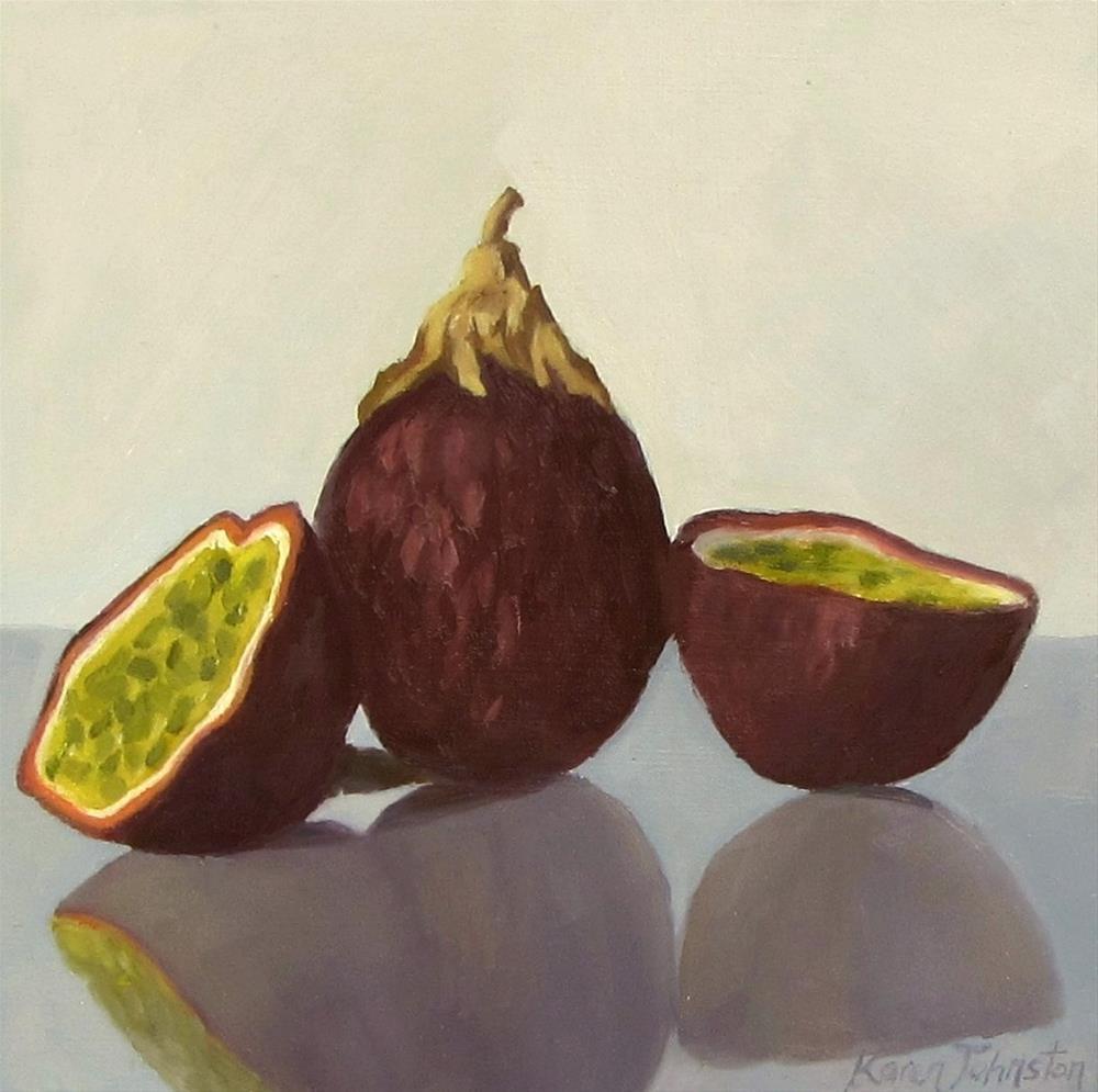 """Passionfruit"" original fine art by Karen Johnston"
