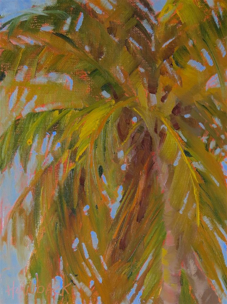"""Shady Palm"" original fine art by Pam Holnback"