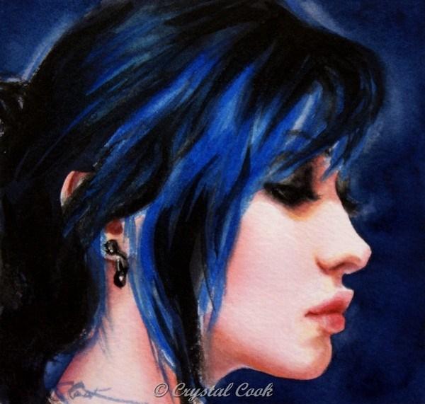 """Raven"" original fine art by Crystal Cook"