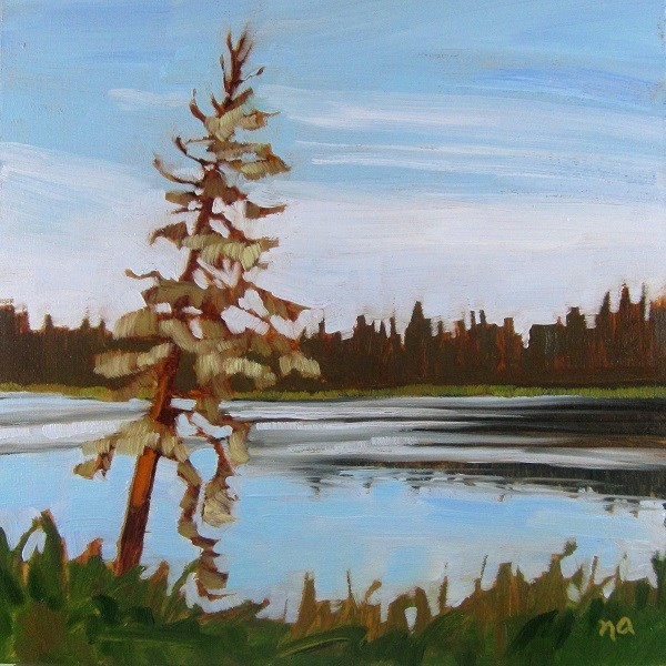 """Moss On The Pine"" original fine art by Nicki Ault"