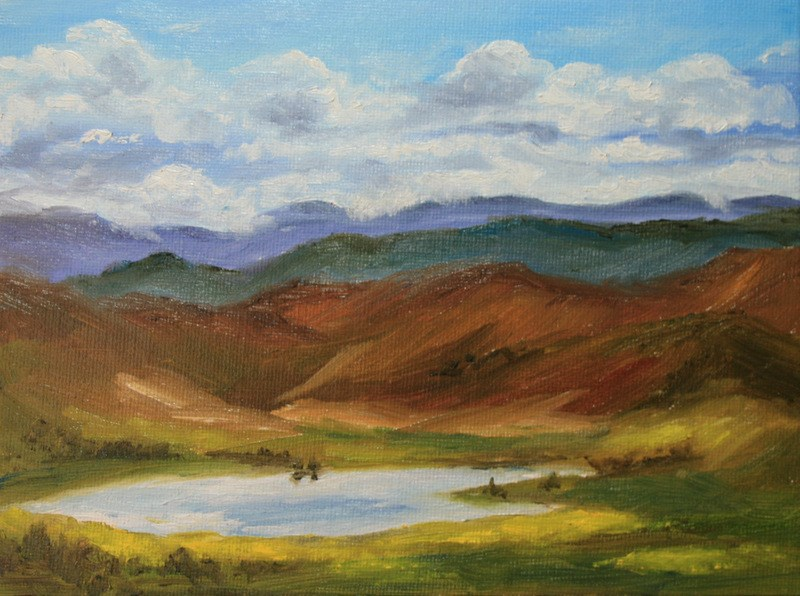 """This Land is Our Land... 2"" original fine art by Jean Nelson"