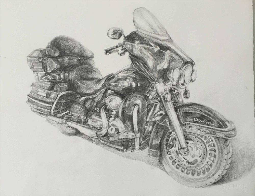 """motorcycle"" original fine art by Wenqing Xu"