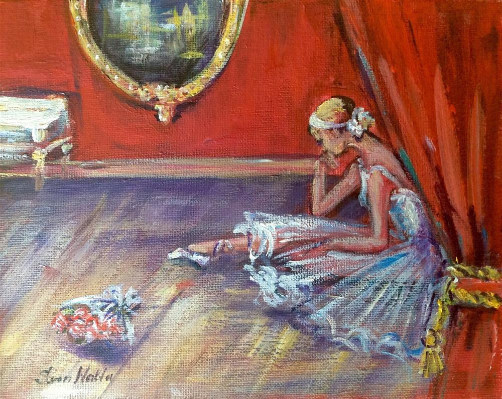 """Ballet painting - After performance"" original fine art by Sonia von Walter"