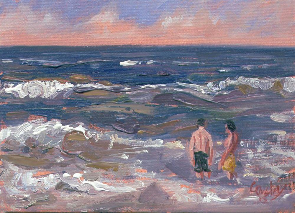 """Two Friends at Flagler Beach"" original fine art by Chris Ousley"