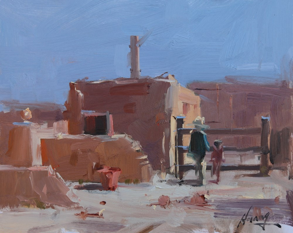"""Plein Air Painting at Tucson 3"" original fine art by Qiang Huang"