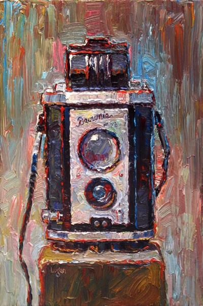 Brownie Reflex Camera original fine art by Raymond Logan