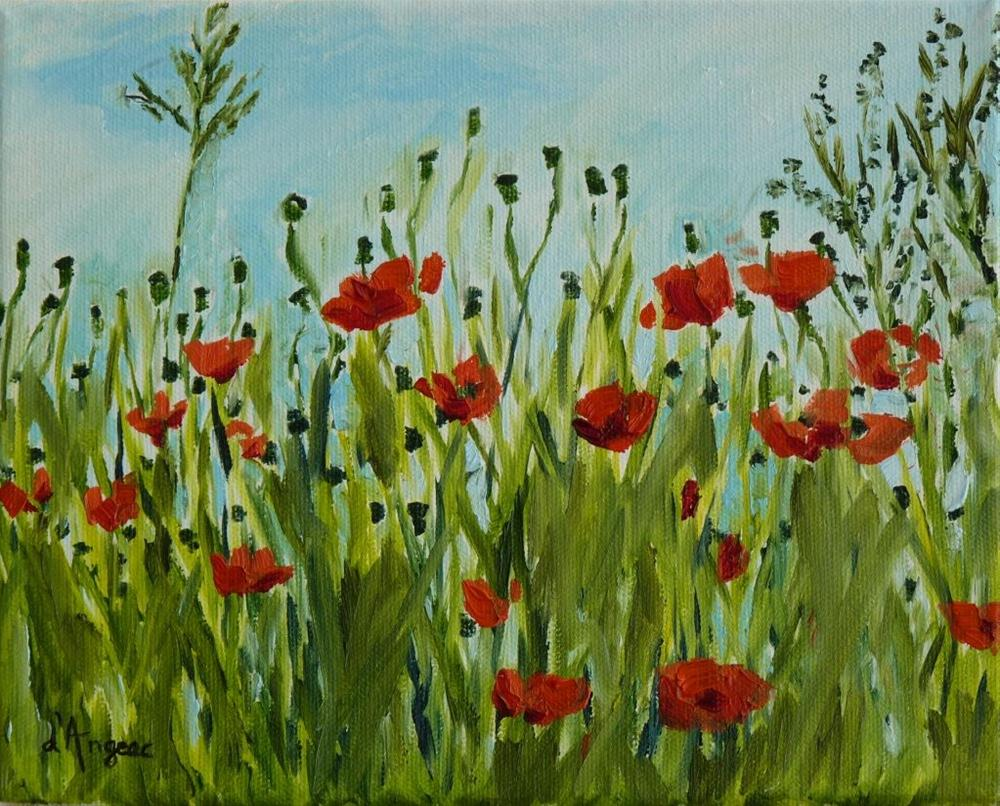 """Poppies"" original fine art by Karen D'angeac Mihm"