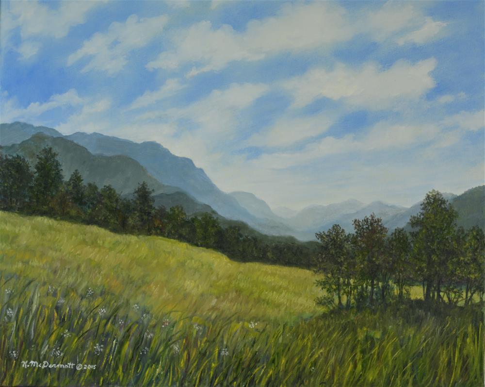"""""""Windswept (C) 2015 by K. McDermott"""" original fine art by Kathleen McDermott"""