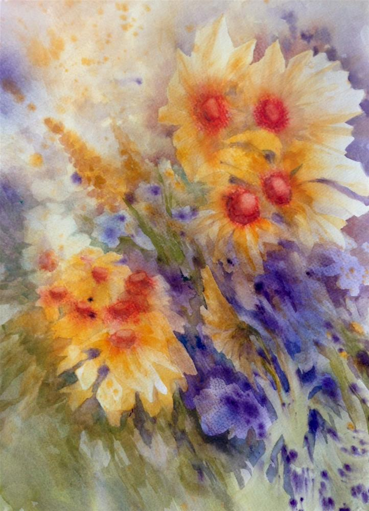 """Golden Bouquet"" original fine art by Eileen Hennemann"