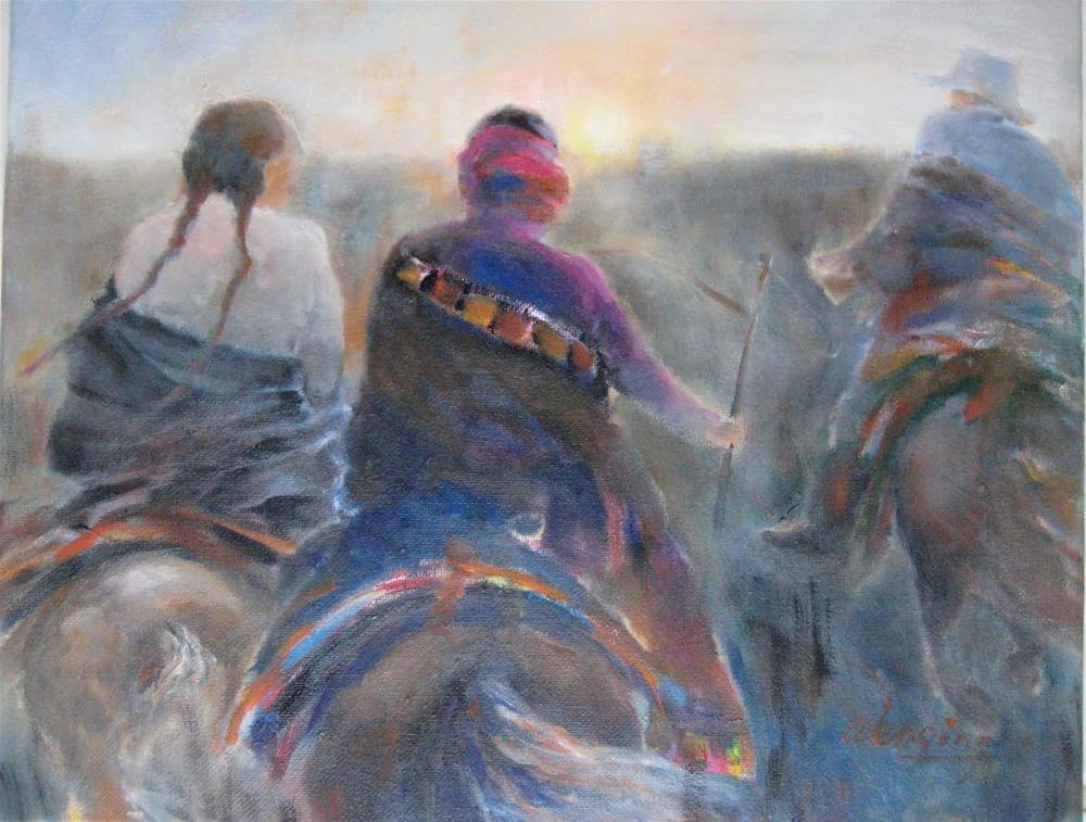 """""""morning"""" original fine art by Wenqing Xu"""
