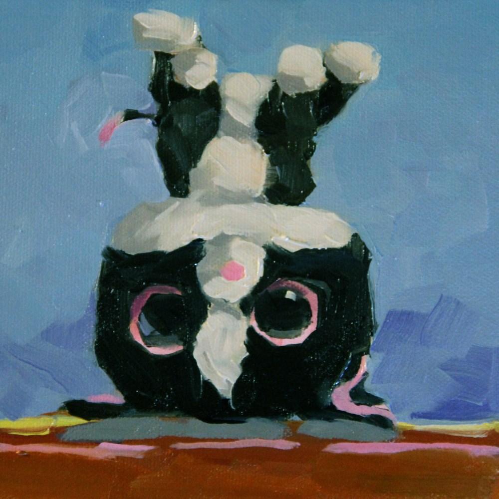 """Kitty Toy 3"" original fine art by C J Roughton"