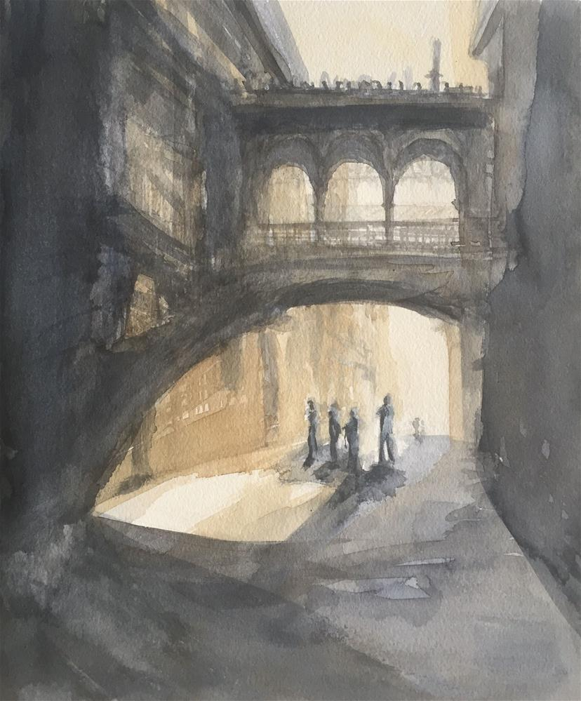 """BISBE STREET IN BARCELONA"" original fine art by Ferran Llagostera"