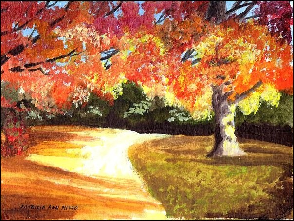 """Autumn Twilight"" original fine art by Patricia Ann Rizzo"