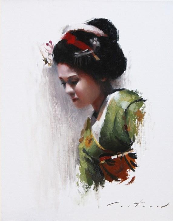 """Maiko Satohana Study"" original fine art by Phil Couture"