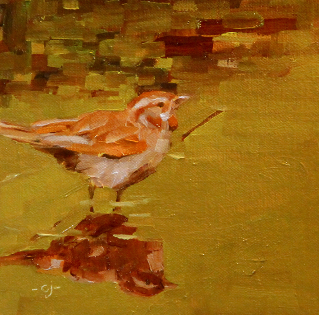 """The Song Sparrow"" original fine art by C J Roughton"