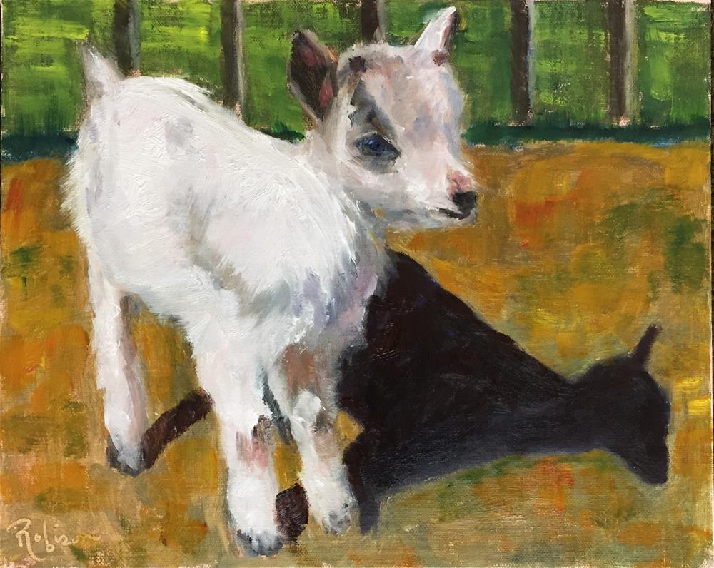 """Baby goat"" original fine art by Renee Robison"