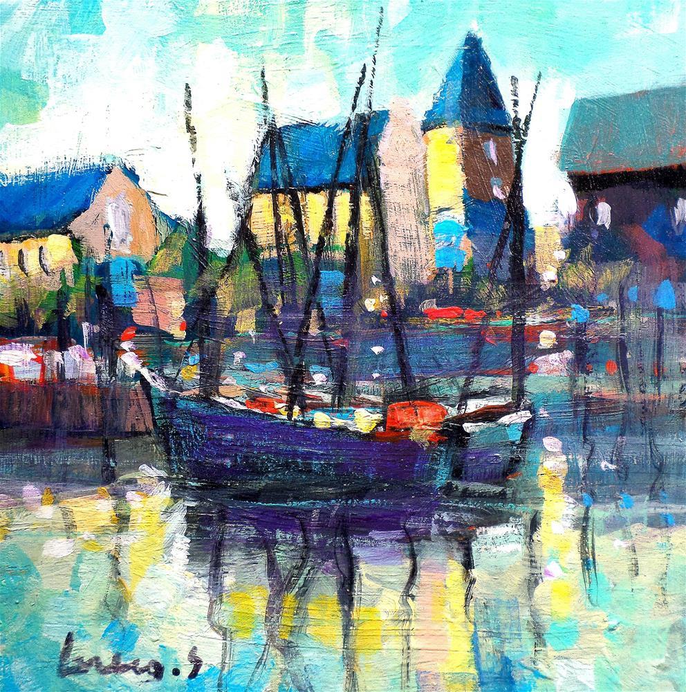 """""""reflection in Amsterdam"""" original fine art by salvatore greco"""