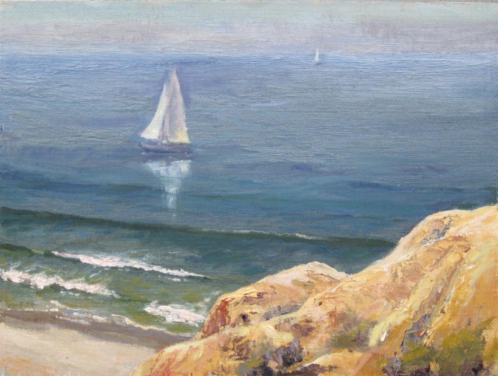 """""""sailing"""" original fine art by Leigh Alexandra Sparks"""