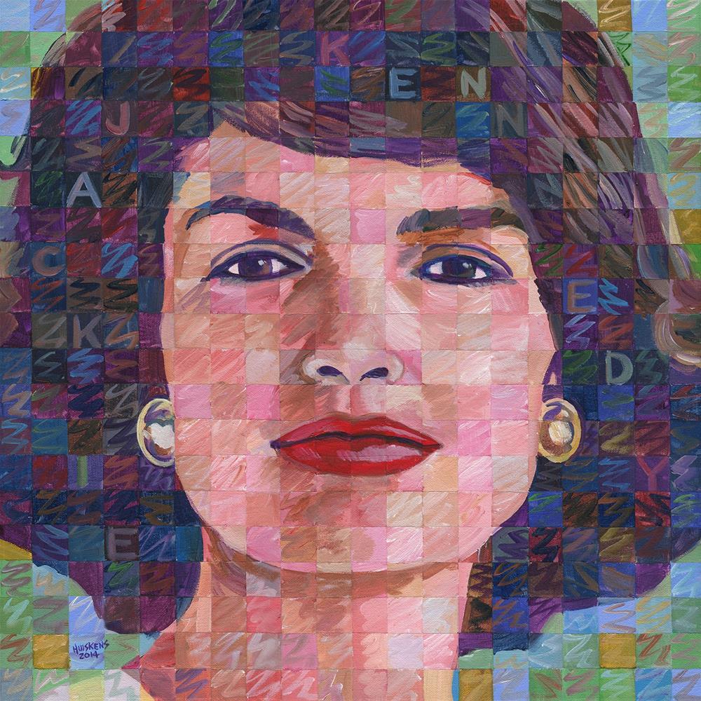 """Jackie Kennedy"" original fine art by Randal Huiskens"